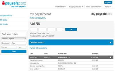 Fake paysafecard